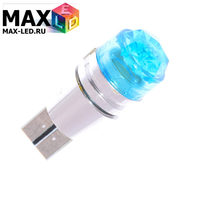 Cветодиодная лампа W5W T10 – Max-Cristal 1 Led 3Вт Синяя