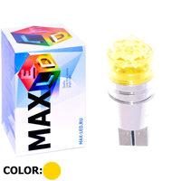 Cветодиодная лампа W5W T10 – Max-Cristal 1 Led 3Вт Жёлтая