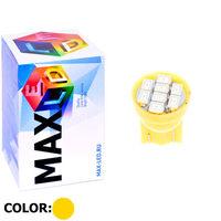Cветодиодная лампа W5W T10 – Max-2820 8 Led 0.4Вт Жёлтая
