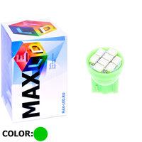 Cветодиодная лампа W5W T10 – Max-2820 8 Led 0.4Вт Зелёный