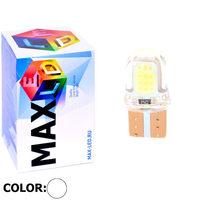 Cветодиодная лампа W5W T10 – Max-COB Silica PCB 1Вт Белая