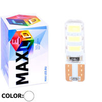 Cветодиодная лампа W5W T10 – Max-Road Silica 6 Led 2Вт Белая