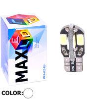 Cветодиодная лампа W5W T10 – Max-Road 8 Led 3Вт Белая