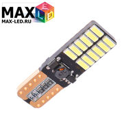 Cветодиодная лампа W5W T10 – Max-Visico 24 Led 5Вт Белая