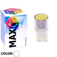 Cветодиодная лампа W5W T10 – Max-COB 1 Led 2Вт Белая