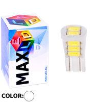 Cветодиодная лампа W5W T10 – Max-Ceramic 8 Led 4Вт Белая
