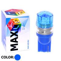 Cветодиодная лампа W5W T10 – Max-Cristal 1 Led 2Вт Синяя