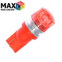 Cветодиодная лампа W5W T10 – Max-Cristal 1 Led 2Вт Красная