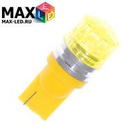 Cветодиодная лампа W5W T10 – Max-Cristal 1 Led 2Вт Жёлтая