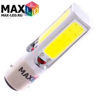 Cветодиодная лампа P21-5W 1157 – Max-COB 4 Led 8Вт Белая