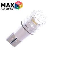 Cветодиодная лампа W5W T10 – Max-Cristal 1 Led 3Вт Белая