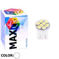 Cветодиодная лампа W5W T10 – Max-2820 8 Led 0.4Вт Белая