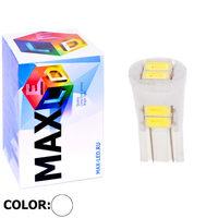 Cветодиодная лампа W5W T10 – Max-Ceramic 6 Led 3Вт Белая