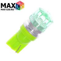 Cветодиодная лампа W5W T10 – Max-Cristal 1 Led 2Вт Зелёная