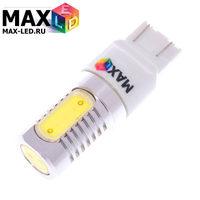 Cветодиодная лампа W21W 7440 – Max-COB 4 Led 8Вт Белая